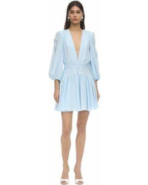 Платье мини шелковое на кнопках Brognano