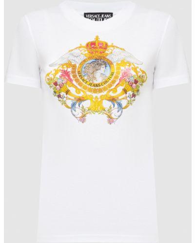 Белая футболка Versace Jeans Couture