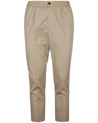 Beżowe spodnie Ami Paris