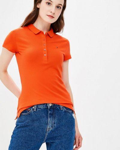 Оранжевое поло Tommy Hilfiger