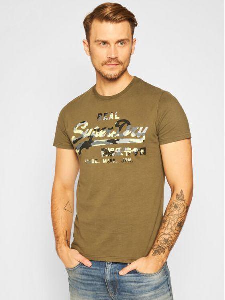 T-shirt - zielona Superdry