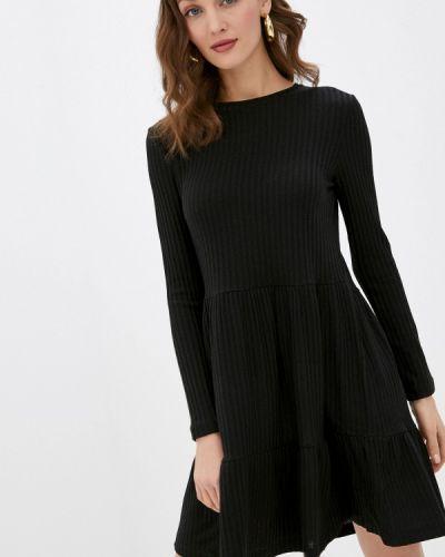 Прямое черное платье А-силуэта Zabaione