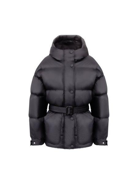 Куртка с капюшоном черная пуховый Ienki Ienki