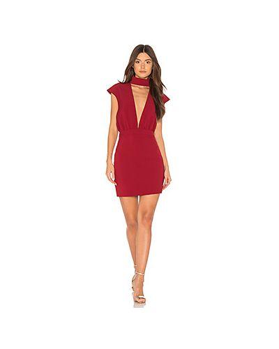 Платье мини облегающее с вырезом Aq Aq