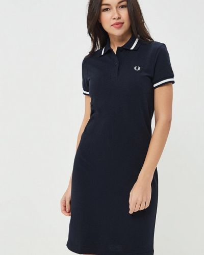 Синее платье футболка Fred Perry