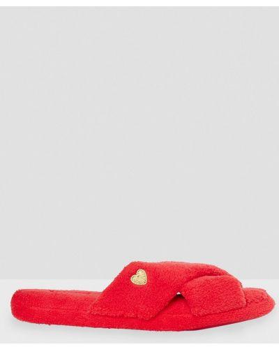 Тапочки красные Etam