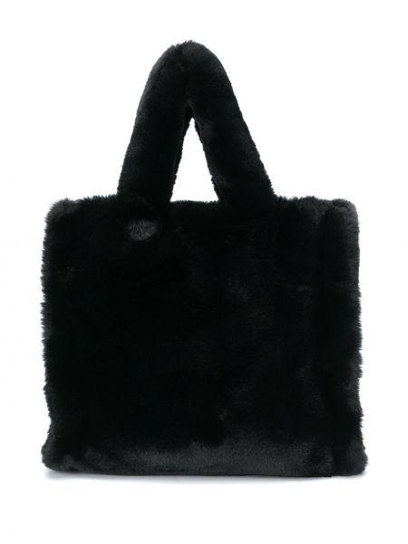 Czarny torba na ramię z kieszeniami Stand Studio