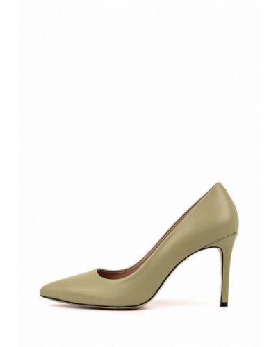 Зеленые кожаные туфли-лодочки Leberdes