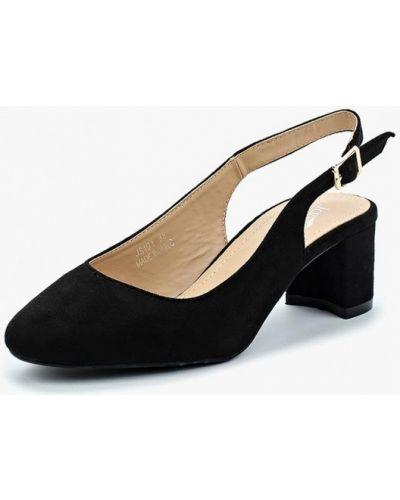 Туфли с открытой пяткой замшевые на каблуке Janessa