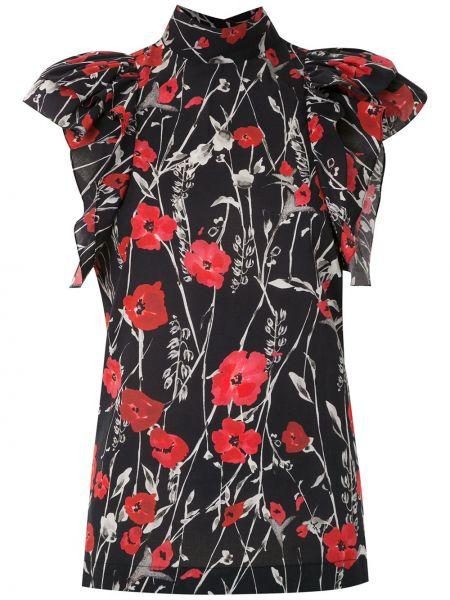 Блузка с короткими рукавами - черная Reinaldo Lourenço