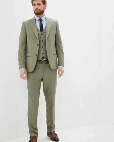 Костюмный зеленый костюм классический Absolutex