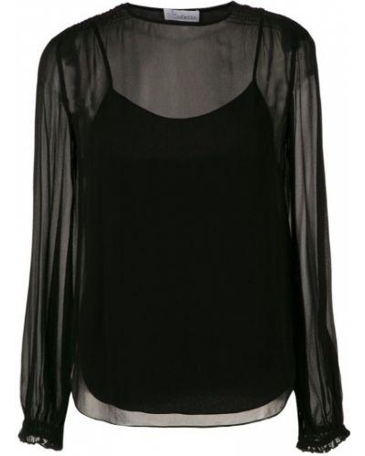 Блузка с длинным рукавом прозрачная классическая НК
