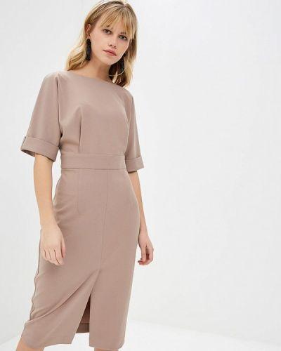 Вечернее платье осеннее бежевое Irina Vladi