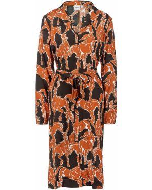 Платье с поясом платье-рубашка из вискозы Ichi