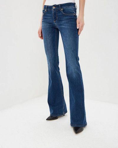Широкие джинсы расклешенные синие Liu Jo