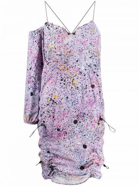 Платье с открытой спиной - фиолетовое Mcq