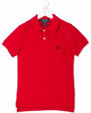 Асимметричная классическая рубашка на пуговицах Ralph Lauren Kids