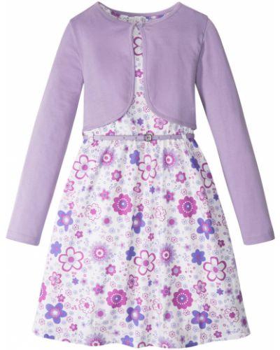 Сиреневое платье на пуговицах Bonprix