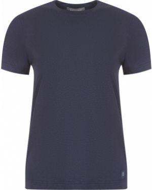 Футбольная базовая серая футболка с круглым вырезом Capobianco
