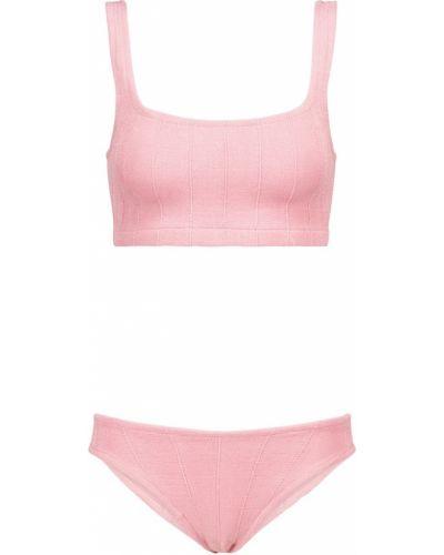 Różowy bikini z nylonu Hunza G