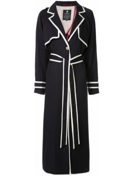 Белое длинное пальто с капюшоном на пуговицах Loveless