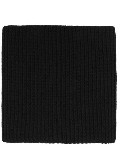 Вязаный шерстяной черный классический шарф вязаный Dorothee Schumacher