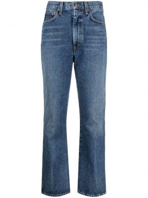 Klasyczne niebieskie jeansy bawełniane Agolde