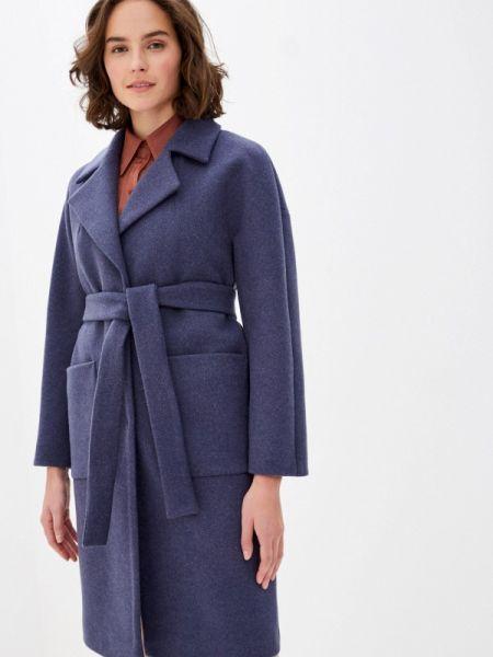 Синее пальто с капюшоном Paradox