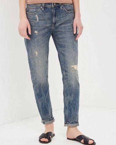 Синие джинсы рваные G-star