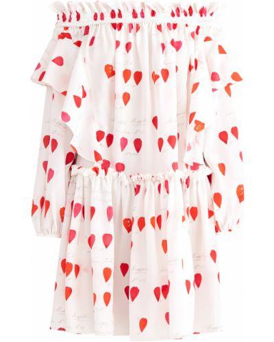 Платье с оборками пышное Alexander Mcqueen