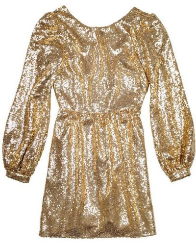 Sukienka mini z cekinami na co dzień Saloni