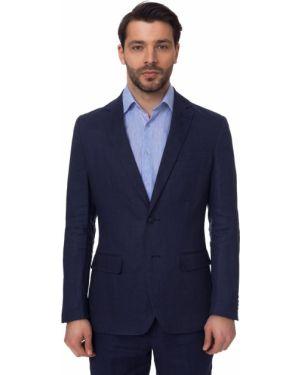 Классический пиджак приталенный замшевый канцлер