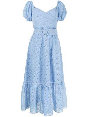 Niebieska sukienka mini z haftem Sachin & Babi