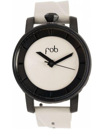 Szary zegarek na skórzanym pasku skórzany klamry Fob Paris