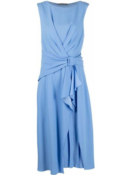 Синее платье мини с вырезом без рукавов Alberta Ferretti