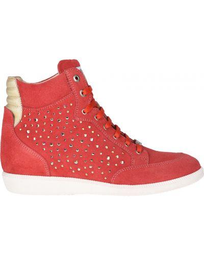 Кеды красные кожаный Liu Jo