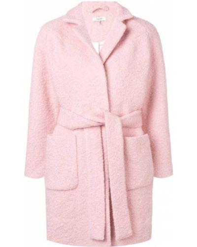 Пальто классическое с капюшоном с воротником Ganni