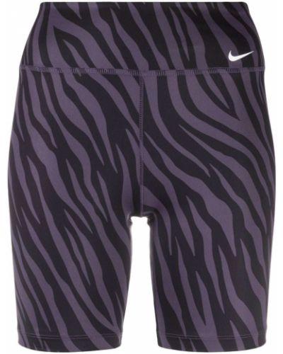 Czarny z wysokim stanem szorty rozciągać Nike