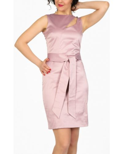 Деловое платье футляр розовое Glam Casual