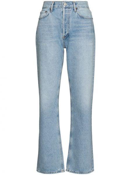 Niebieskie jeansy bawełniane Agolde