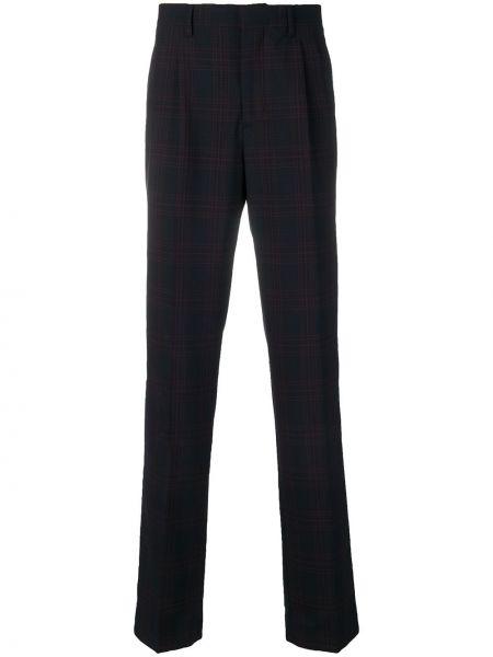 Niebieskie spodnie wełniane z paskiem Calvin Klein 205w39nyc