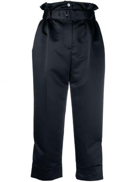 Черные брюки с поясом на пуговицах Simone Rocha
