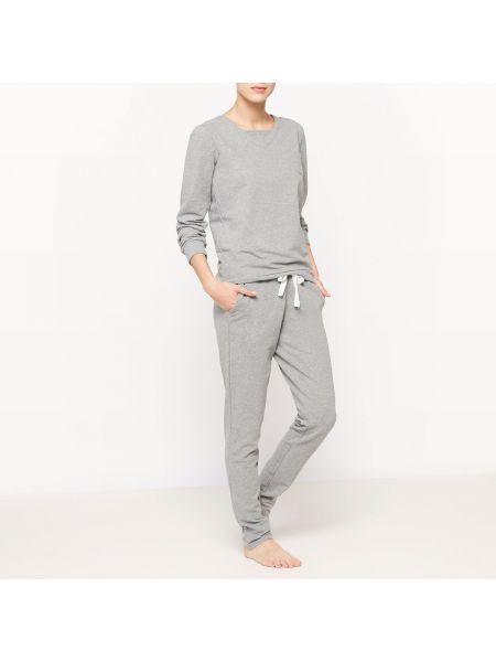 Пижама с брюками с карманами с длинными рукавами La Redoute Collections