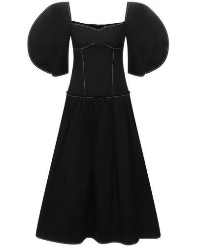Хлопковое платье - черное Rejina Pyo