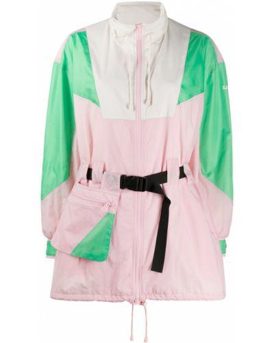 Розовая парка с карманами на молнии с воротником Sjyp