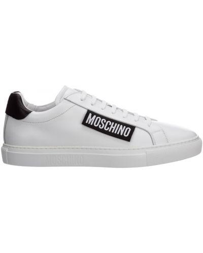 Sneakersy skorzane Moschino