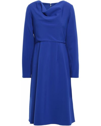 Синее платье с подкладкой из крепа Mikael Aghal