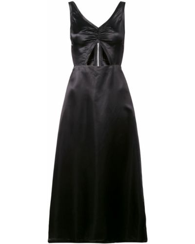 Черное платье миди на молнии Jill Stuart