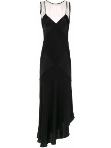 Шелковое платье миди - черное Mara Mac