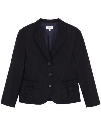 Пиджак однобортный с бантом с накладными карманами Aletta